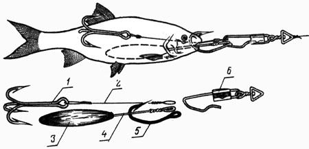 Снасточка для ловли щуки на мертвую рыбку своими руками